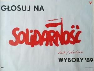 plakat wybory 4-6-1989 oryginal