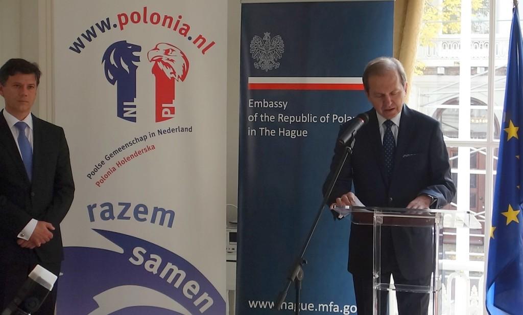 Przemowienie ambasadora RP Borkowskiego 8-10-2015 _2 fot. Ronald Bos