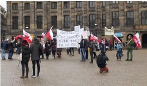 demonstracja Klub Gazety Polskiej Amsterdam 31-1-2016