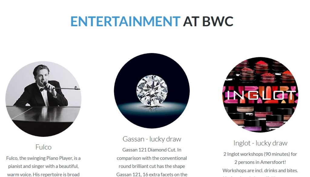 entertainment BWC 2016