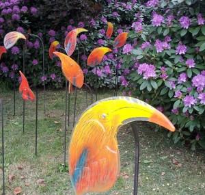 Pools glaskunst in tuin Kasteel Vaassen fot. Polonia.nl