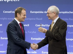 Handover ceremony Tusk and van Rompuy 1-12-2014 Brussles_kl